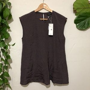 NWT Eileen Fisher Petite Small 100% Silk Blouse